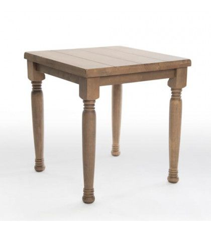 Farmhouse Chunky Table 700mm x 700mm Ridged Top Weathered