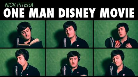 """One Man Disney Movie"" Nick Pitera - Disney Medley-This is the most amazing thing I have ever heard. HOW."