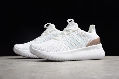 Men's and Women's adidas Cloudfoam Ultimate Pure White Rose