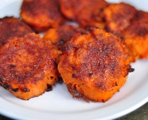 Crash Hot Sweet Potatoes by thecreeksidecook: Sweet, salty, spicy and crispy on the outside. #Sweet_Potatoes