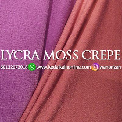 Kain Plain Lycra Moss Crepe In 2020 Lycra Crepe Plain