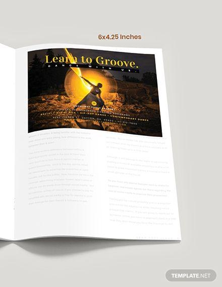 Dance School Magazine Ads Template Psd Indesign Magazine Ads Dance School Templates