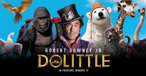 Dolittle Movie Robert Downey Jr Animal Film Silk Canvas Poster Print 32x48 inch