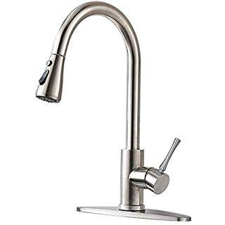 Homy Kitchen Faucets With Pull Down Sprayer Sus304 Stainless