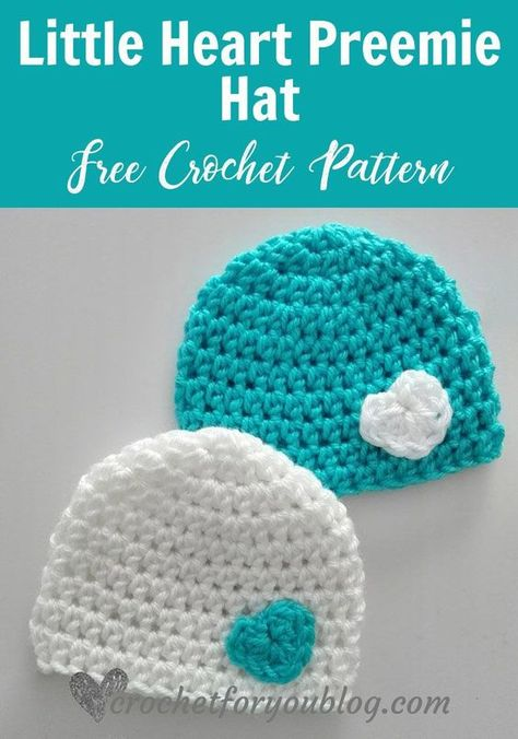crochet hat patterns February is a month of love, we can make it meaningful. Every life is a precious, even they come to the world right time or early. Little Heart Preemie Crochet Crochet Preemie Hats, Crochet Baby Hats Free Pattern, Bonnet Crochet, Crochet Baby Beanie, Crochet For Kids, Free Crochet, Crochet Granny, Baby Sweater Patterns, Crochet Stars
