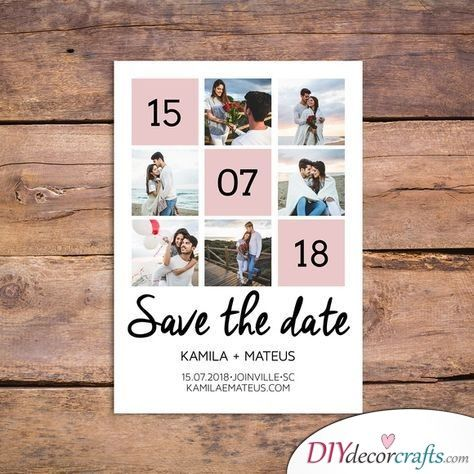 Cute Collage Save The Date Wedding Ideas Diy Save The Dates Wedding Invitations Diy Save The Date Pictures