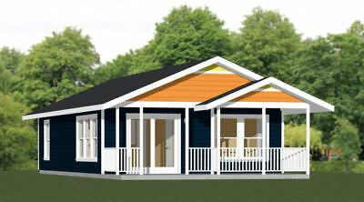 Details About 22x36 House 2 Bedroom 1 Bath 792 Sq Ft Pdf Floor Plan Model 1c Shed To Tiny House Small House Plans Tiny House Plans
