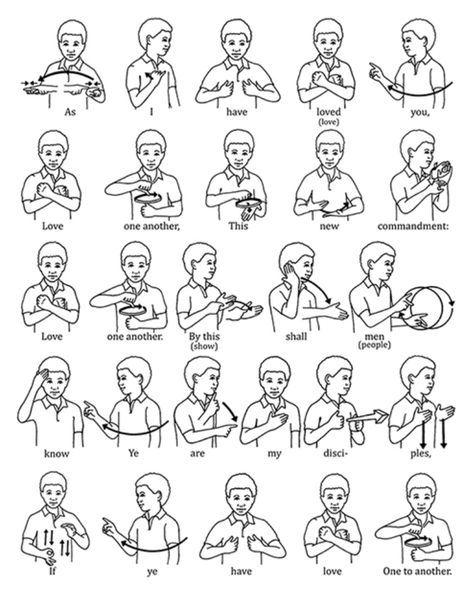 Love One Another Love One Another Sign Language Poster.You can find Sign language and more on our website.Love One Another Love One Another Sign Language Poster. English Sign Language, Simple Sign Language, Sign Language Phrases, Sign Language Alphabet, Learn Sign Language, British Sign Language, Primary Songs, Primary Singing Time, Love One Another Song