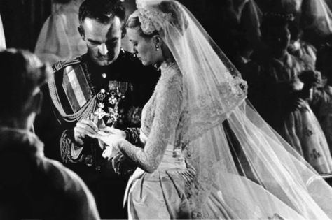 Prince Rainier Of Monaco and Grace Kelly, 1955 - The Cut - Most Influential Wedding Dresses of the Last 150 Years
