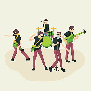 Rock Group Music Band Country Singer Performance Musician Playing Png And Vector With Transparent Background For Free Download Pendidikan