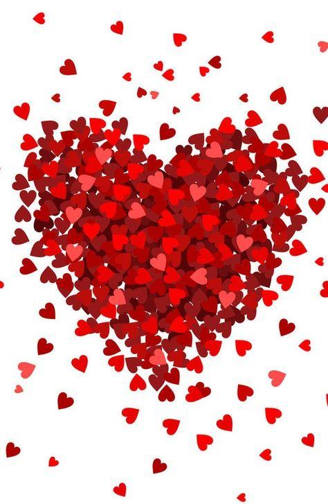 Small Hearts Big Heart Photo Backdrop // PolyPaper Photography image 1