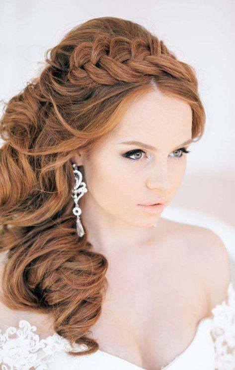 Brautfrisuren Seitlich Gesteckt Offen Locken Haars