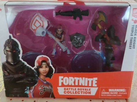 Fortnite Bataille Royale Collection Figures DUO PACK BLACK KNIGHT /& Triple menace