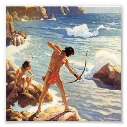 N C Wyeth Western Painting First Maine Fishermen Photo Print