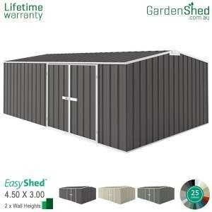 Easyshed Workshop4 5m X 3 00mgable Triangle Simple Shed Shed Storage Shed