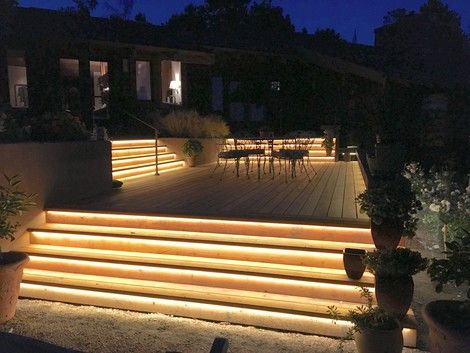 Tube Lighting Outdoor Exterior Stair Lighting With Images Outdoor Landscape Lighting