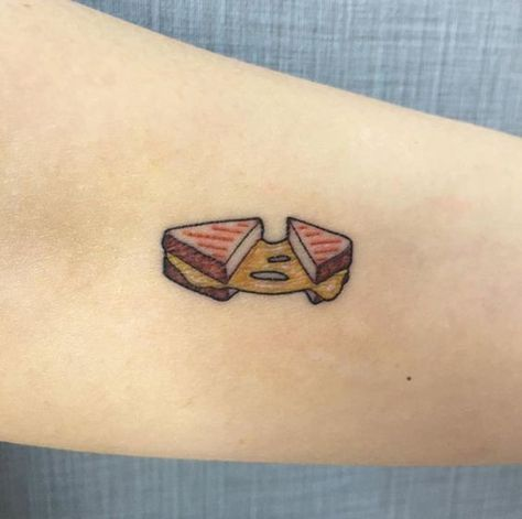 Ooey-Gooey Grilled Cheese - These Are the Tattoos That Every Foodie Needs - Photos