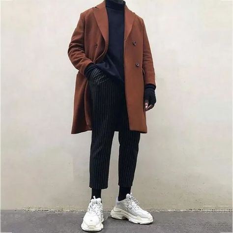 127 winter outfit street style for men trend