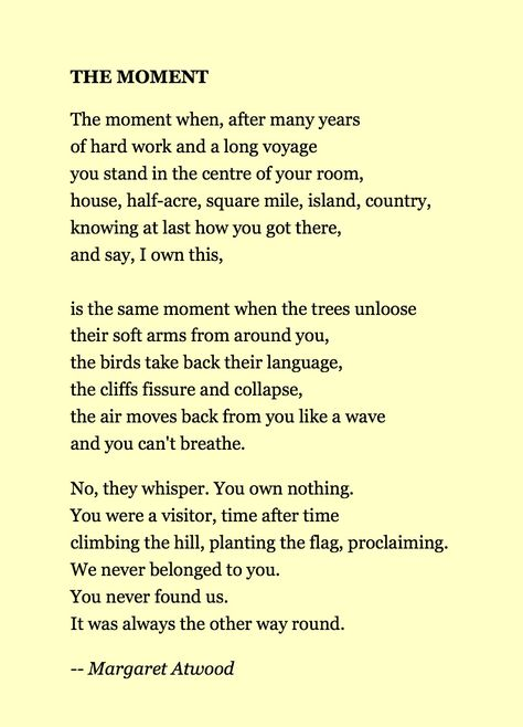 "an analysis of margaret atwood poem against still life Margaret atwood's ""siren song"": summary & analysis this poem is still written today and the ""siren song"" is an excerpt highlighted because of the."