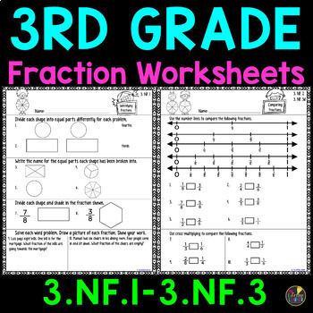3rd Grade Fraction Worksheets In 2020 3rd Grade Fractions Fractions Worksheets Math Fractions Worksheets