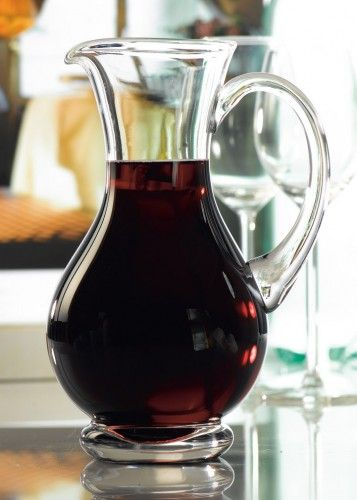 Glass Carafe Water Wine Juice Jug Pitcher Decanter 700ml