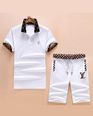 Lv Men S Cotton T Shirt Sport Shorts Set Tracksuit In 2020 Designer Clothes For Men Lv Men Mens Outfits