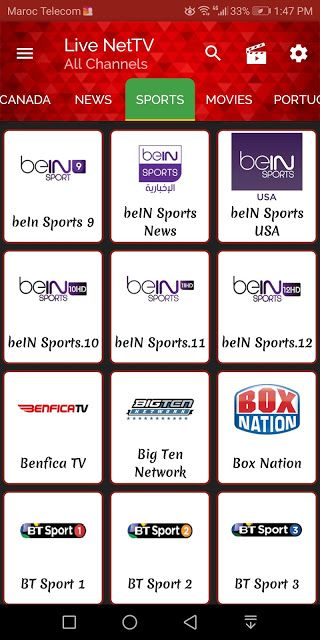 لايف نت تيفي Live Nettv لمشاهدة قنوات بي ان سبورت مجانا Sports Movie Usa Sports Bein Sports