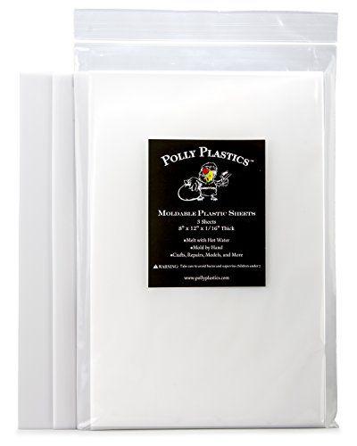 Polly Plastics Heat Moldable Plastic Sheets 3 Sheets 8 X 12 X 1 16 Moldable Plastic Sheets Moldable Plastic Polly Plastics