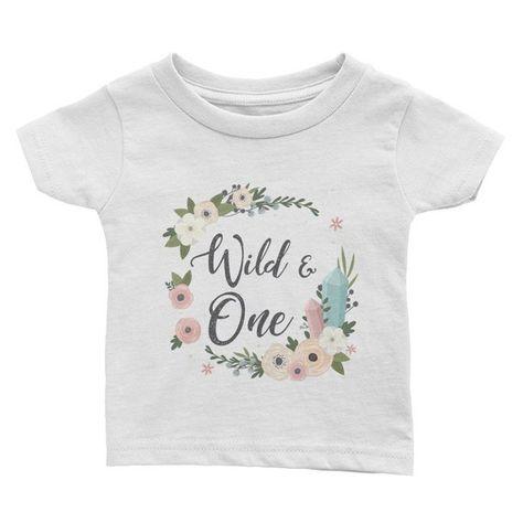 Wild One Birthday Shirt Glitter Gold Wild One Birthday Shirt on Pink Baseball Tee Shirt
