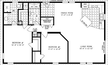 Manufactured Home Floor Plan The Imperial Limited Model Imlt 3449b 2 Bedrooms 2 Baths In 2020 Mobile Home Floor Plans Cabin Floor Plans Floor Plans