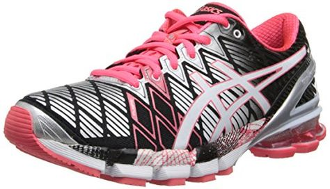 ASICS Women's Gel-Kinsei 5 Running Shoe,Black/Snow/Diva Pink ...