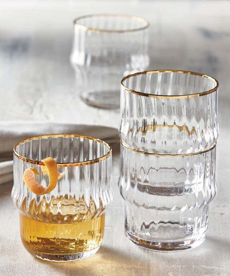 tag Faceted Stacking Drinks Glass | Zulily