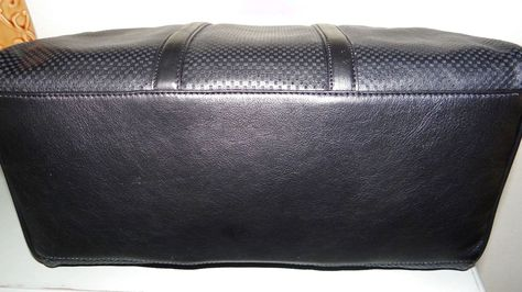 6f9e08088a3437 Michael Kors Libby Large Perforated Leather Gym Bag Black NWT $174.74