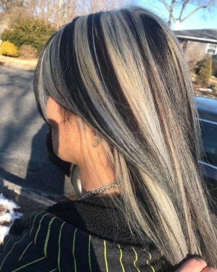 Chunky Hair Streaks In 2020 Hair Color Streaks Hair Streaks Hair Styles