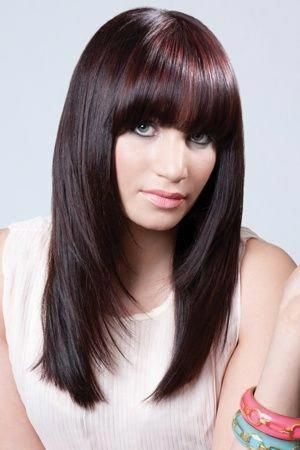 Long Hairstyles With Bangs This Is What My Current Hairstyle Will Look Like Long Whatisabobhaircut In 2020 Medium Hair Styles Long Hair With Bangs Long Layered Hair