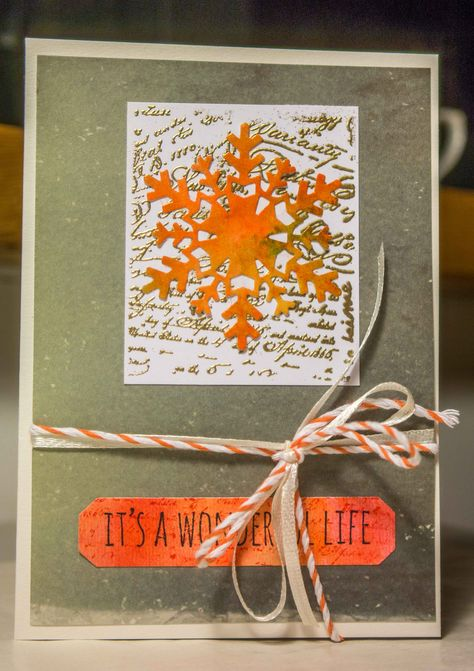 gold #Christmas Card with #Tim...