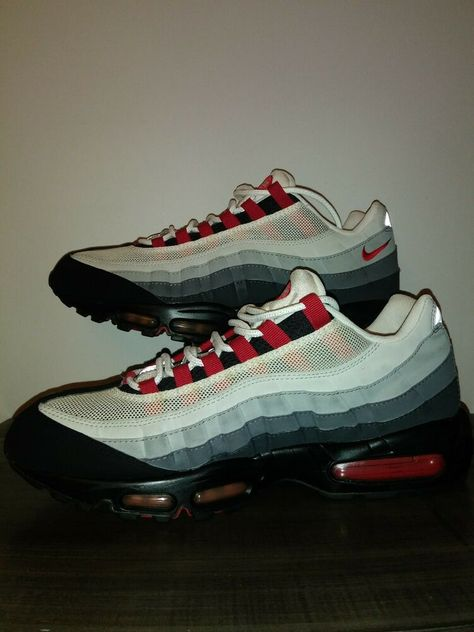 Nike Air Max 95 Cool Grey Red Black White 2008 609048 062
