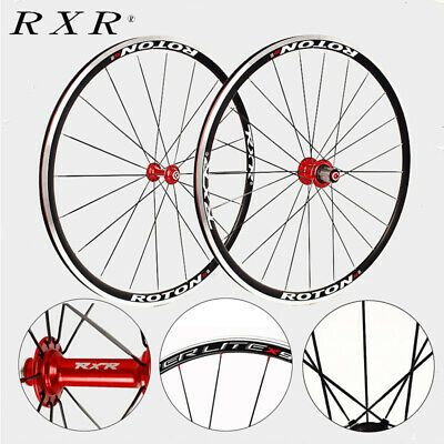 Details About Rxr Front Rear Wheelset Road Bicycle Clincher 700c V