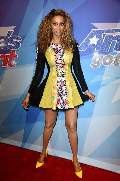 Tyra Banks attends the premiere of NBC's 'America's Got Talent' Season 12.