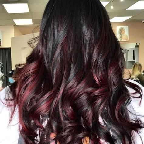 Red wine 🍇🍷 #hairoftheday #redwine #winehair #burgendyhair #balayage #clevelandstylist #clevelandbalayage #216 #whocuts #fiidnt #imallaboutdahair #behindthechair #licensedtocreate #myscconnection #pravana