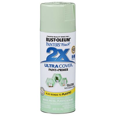 Painter S Touch 2x Spray Paint Modern Mint Gloss 12 Oz Aerosol 27 Rustoleum Blue Spray Paint Green Spray Paint
