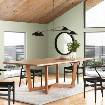 Lonan Extendable Dining Table Allmodern In 2020 Extendable Dining Table Solid Wood Dining Table Dining Table