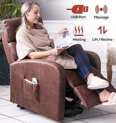 Amazon Com Ergoreal Electric Lift Chair For Elderly Infinite Position Power Lift Recliner With Heat And Massage Textured S In 2020 Lift Chairs Lift Recliners Recliner