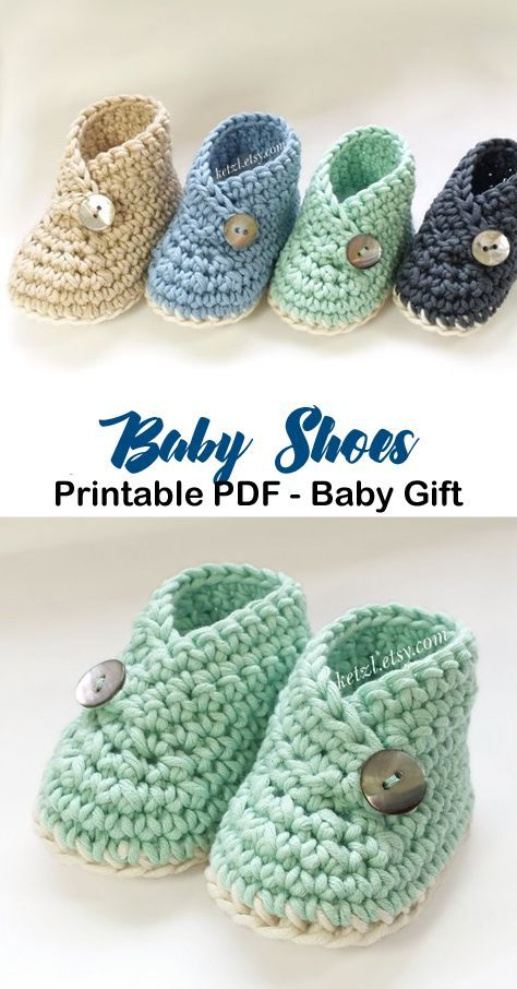 Make a cute pair of baby shoes. baby shoes crochet patterns - baby gift - crochet pattern pdf - amorecraftylife.com