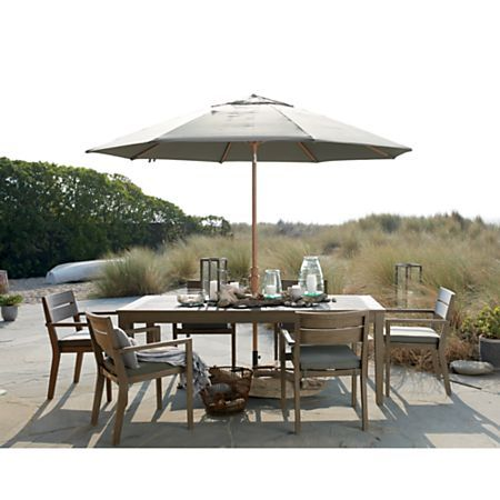 Regatta Grey Wash Dining Chair With Graphite Sunbrella Cushion Crate And Barrel In 2020 Natural Dining Chairs Extension Dining Table Outdoor Dining Chairs