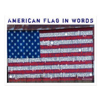 American Flag In Words Blue Beach Song Postcard Zazzle Com Blue Beach American Flag Beach Songs