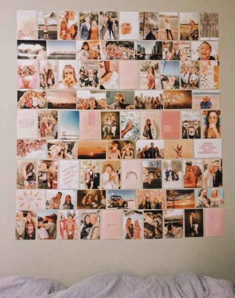 30 ideas wall picture collage aesthetic decor bedroom college co photo walls storage bench bed bath and beyond