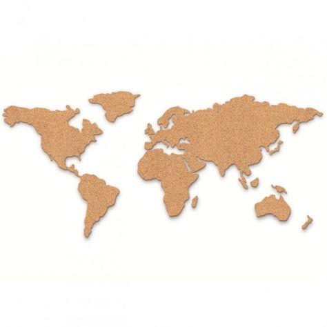 Pinnwand Weltkarte aus Kork