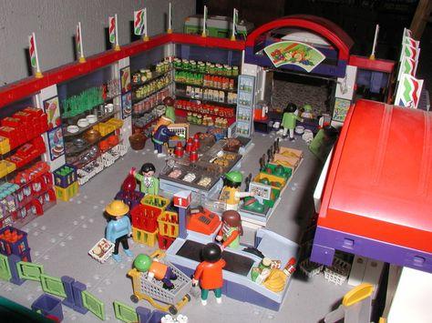 Instructions for supermarket 3200 Playmobil Pinterest - playmobil badezimmer 4285