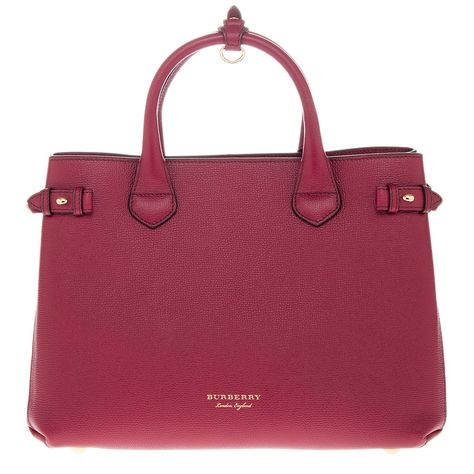4321446e4f85 Burberry Women s The Medium Banner in Leather and House Check Red  BURBERRY   Regular